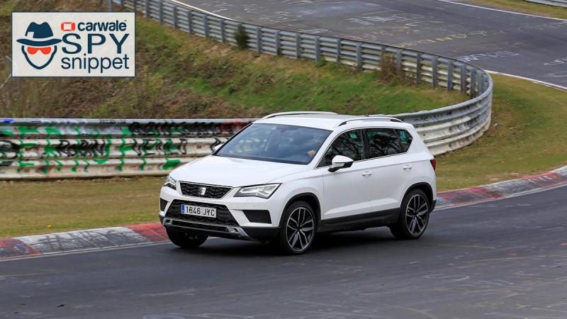 Sportier Seat Ateca Cupra spied on test