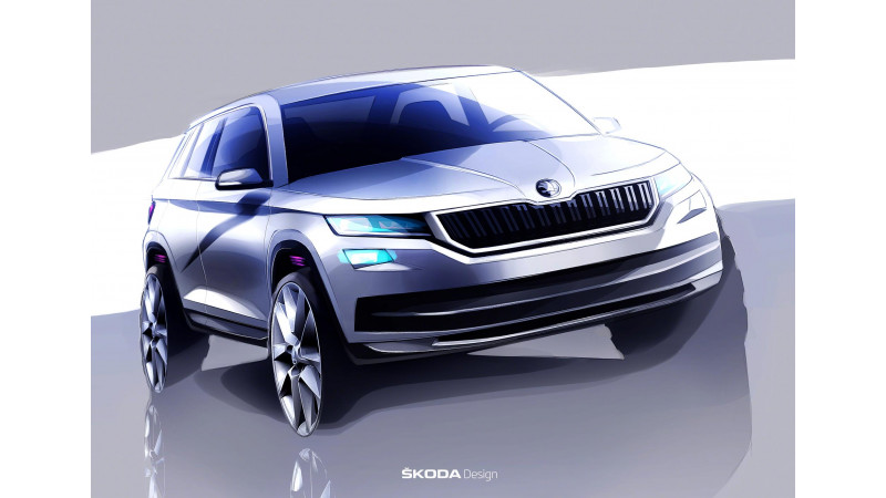Skoda Kodiaq official teaser sketches surface