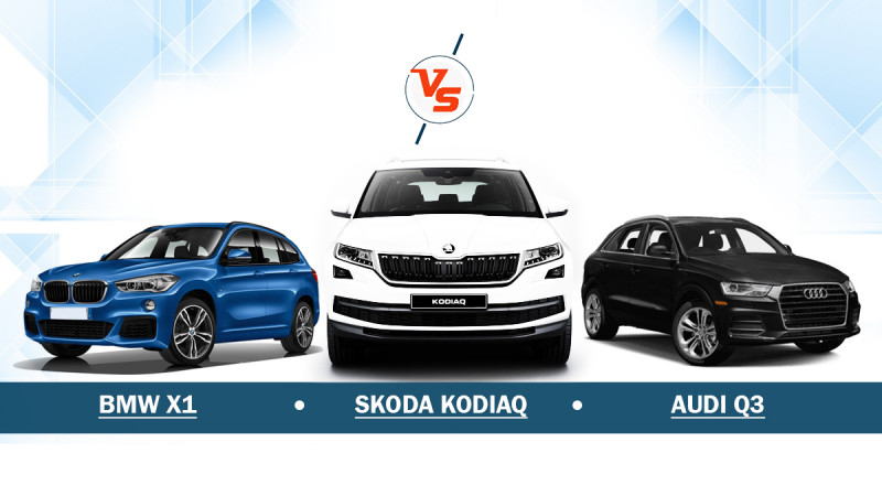 Skoda Kodiaq Vs BMW X1 Vs Audi Q3 - Spec comparison