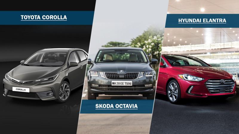 Petrol power: Hyundai Elantra Vs Skoda Octavia Vs Toyota Corolla Altis