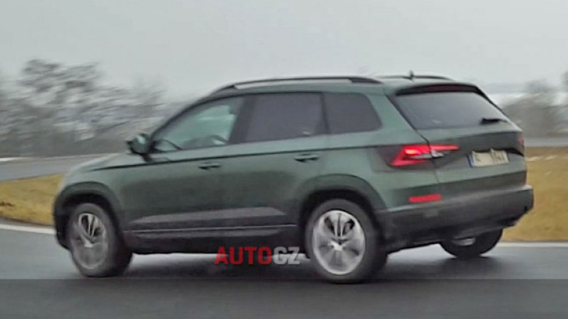 2018 Skoda Yeti spotted on test in Europe