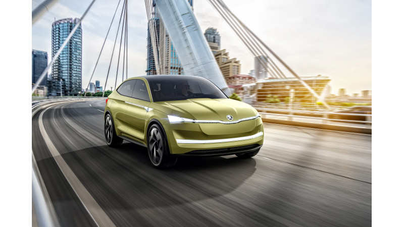 2017 Auto Shanghai: Skoda reveals all-electric Vision E