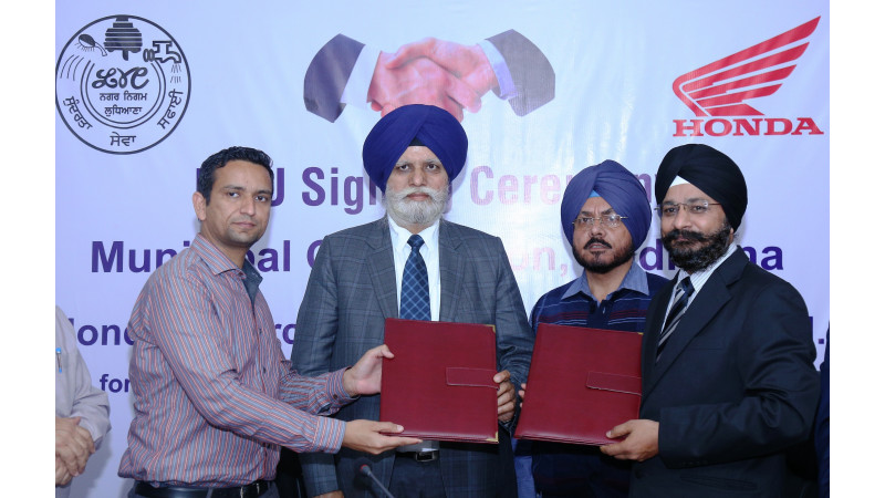 Honda 2Wheelers joins hands with Municipal Corporation of Ludhiana for Traffic Training Park