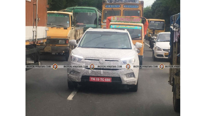 SsangYong Tivoli spied on test in Chennai