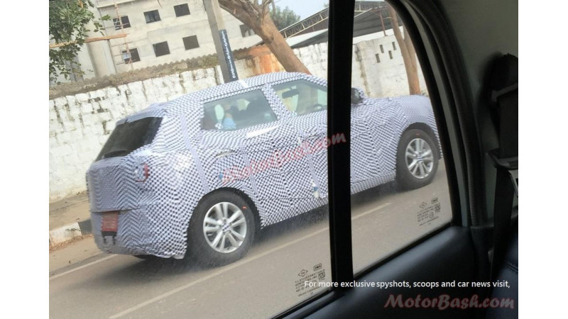 SsangYong Tivoli spotted on-test in India