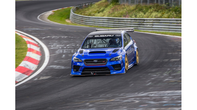 Subaru sets Nurburgring lap record for sedans with the WRX STI