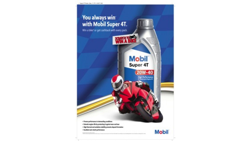 Mobil Super 4T 20W-40 motorcycle engine oil launched by Exxon