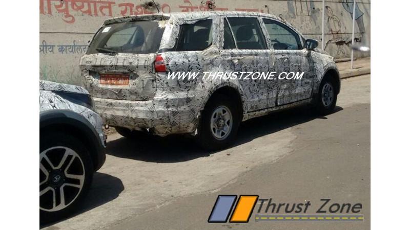 Tata Hexa spotted on test again