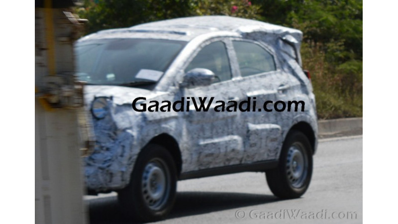 Tata Nexon has been spotted on test