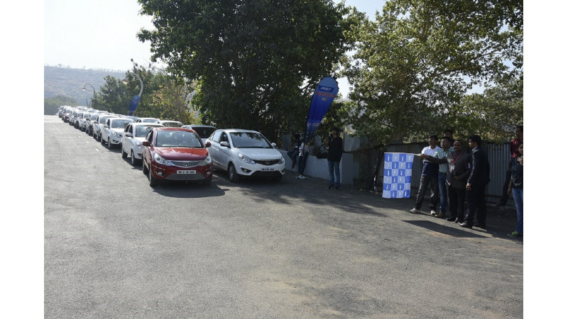 Tata Zest enters Asia Book of Records, organises largest convoy
