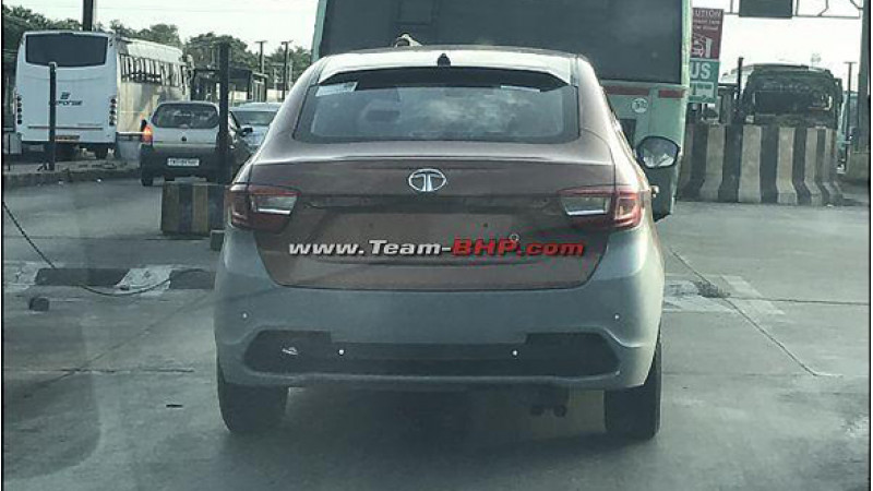 Tata Tigor JTP with twin-barrel exhaust test mule images surface