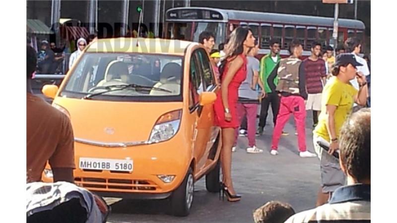 2013 Tata Nano spotted during shoot of ad-film in Mumbai