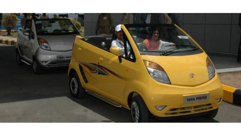 Gujarat transforms Tata Nano into an open-top beach car