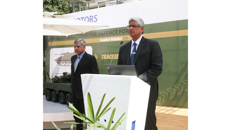 Tata displays its Anti-Terrorist Indoor Combat Vehicle concept and launches Prahar missile launcher and armoured vehicles