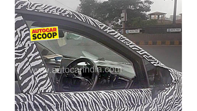 Interiors of production spec Tata 45X spied