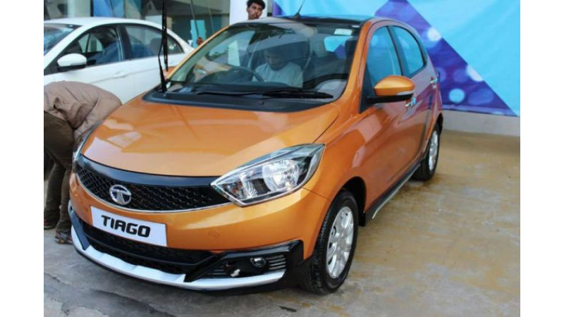 Tata Tiago Activ spotted at dealership