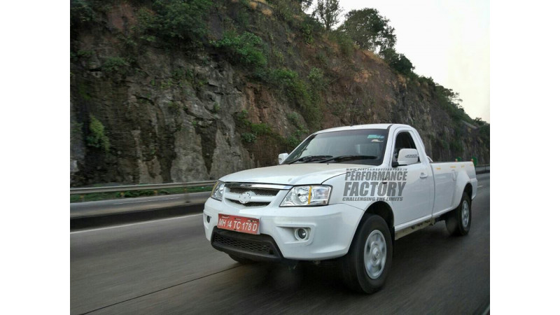 2017 Tata Xenon test mule spotted sans camouflage