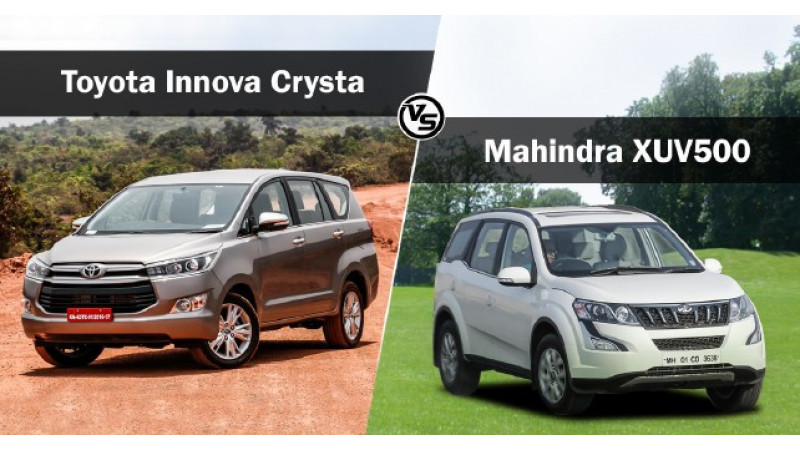 Toyota Innova Crysta vs Mahindra XUV500: Spec Comparison