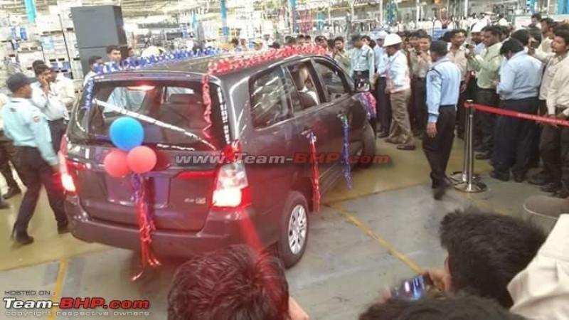 Toyota Innova production stopped at Bidadi plant