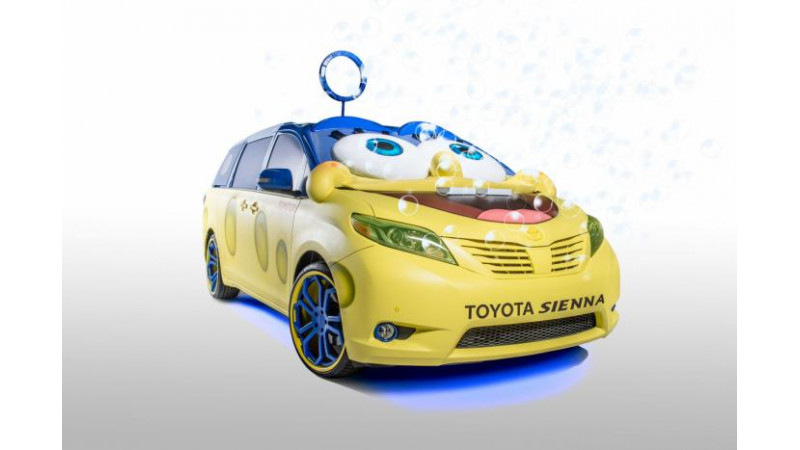 Toyota showcases SpongeBob Sienna minivan at Los Angeles Auto Show