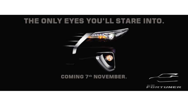 2016 Toyota Fortuner teased before its November 7 launch