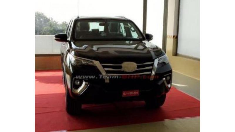New Toyota Fortuner arrives at dealership in Gujarat