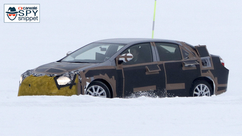 2019 Toyota Corolla snapped during cold weather testing