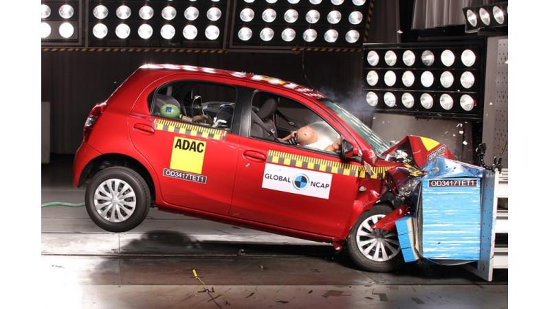India-Spec Datsun Go Plus and Toyota Etios Liva undergo crash test at Global NCAP