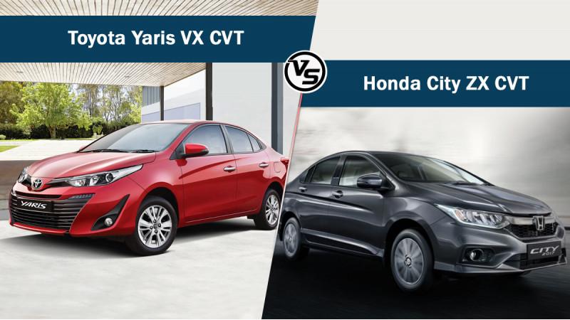 Toyota Yaris VX CVT Vs Honda City ZX CVT: Spec comparo