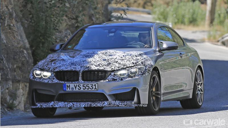 Updated BMW M4 spied testing
