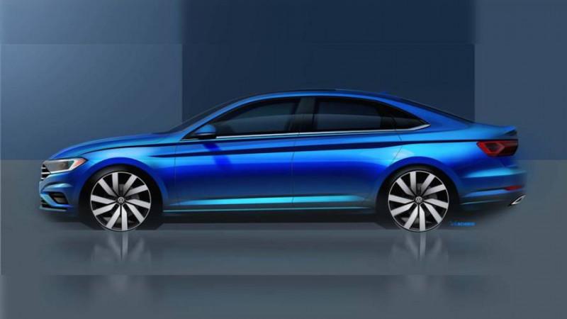 2019 Volkswagen Jetta tease before Detroit debut