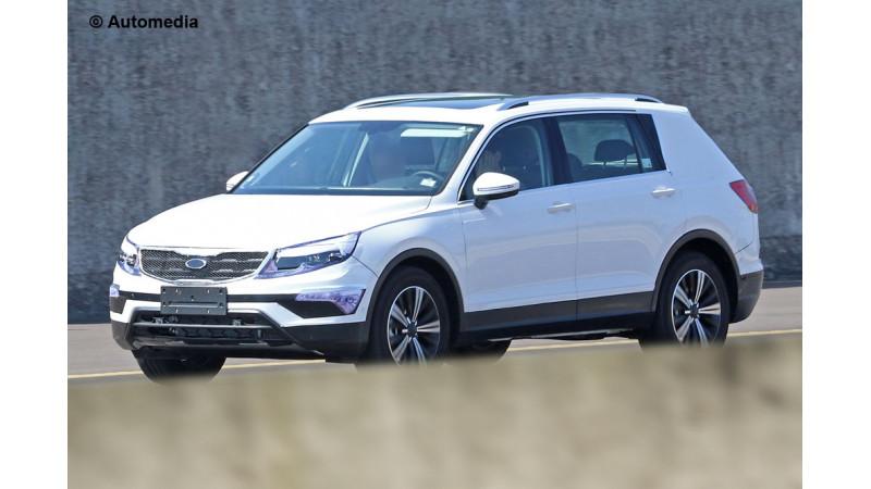 Volkswagen Tiguan LWB spied on test again