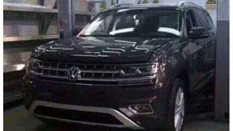 Volkswagen's new full size SUV spotted in China