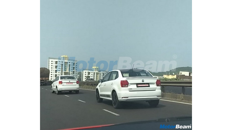 Volkswagen spotted testing the Ameo Sport