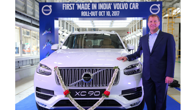 Volvo rolls out locally-assembled XC90 from their Bengaluru plant