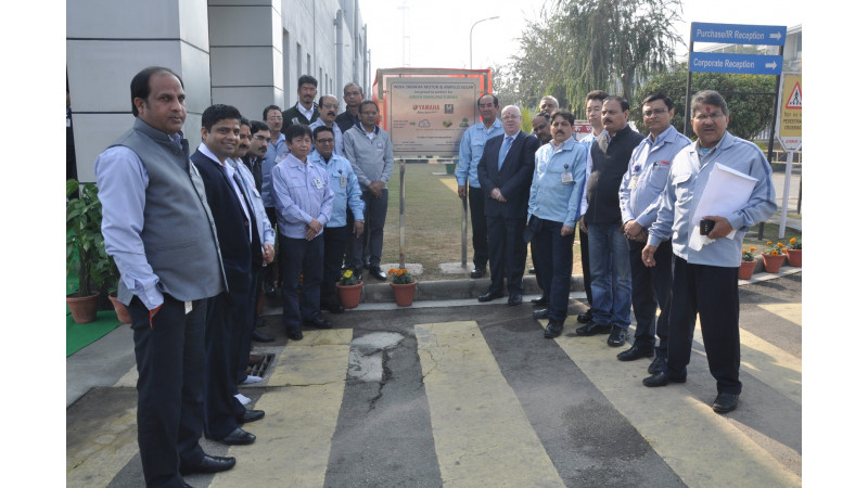 Yamaha inaugurates a 4000kW solar power project at its Surajpur Plant
