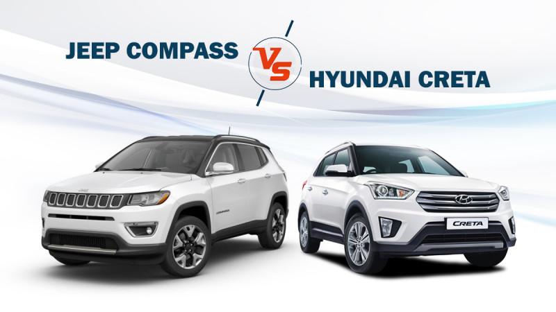 Spec comparison: Jeep Compass Sport diesel vs Hyundai Creta SX Plus diesel