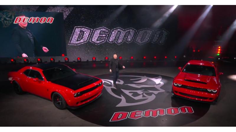 Dodge Challenger Demon unveiled at New York