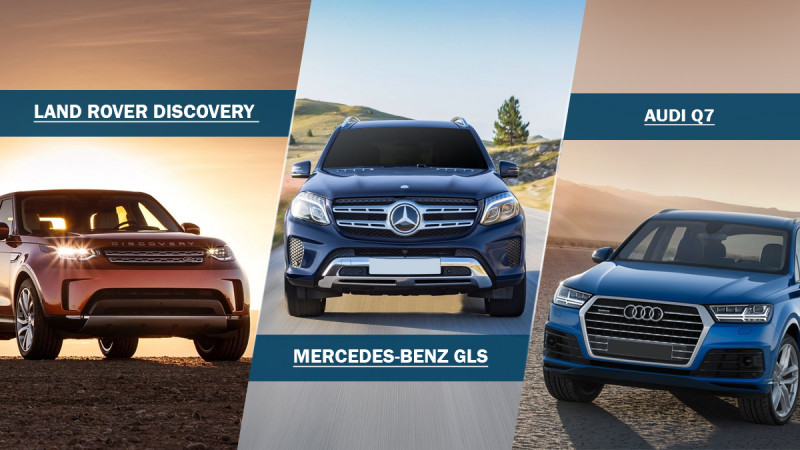 Comparison: Land Rover Discovery vs Mercedes-Benz GLS vs Audi Q7
