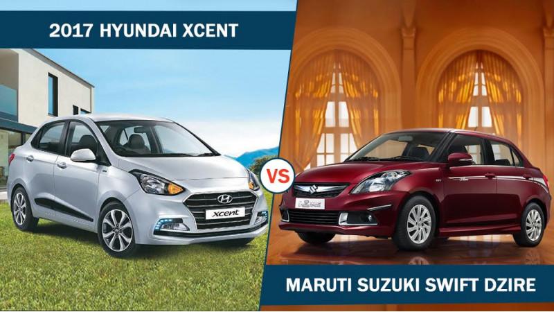 2017 Hyundai Xcent vs Maruti Suzuki Dzire Spec Comparison