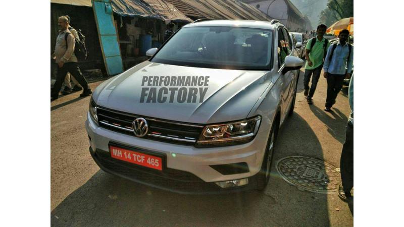 Volkswagen Tiguan seen taking rounds undisguised in India