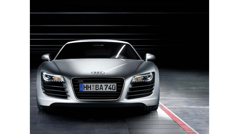 Audi R8 in Hyderabad Showroom