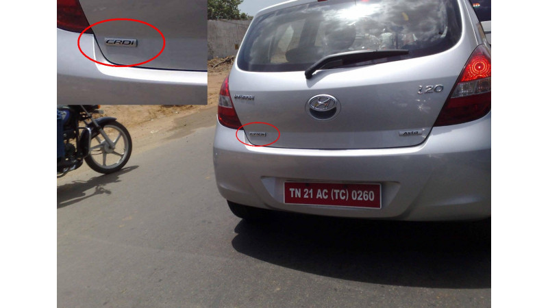 Hyundai i20 CRDi Diesel Spotted!