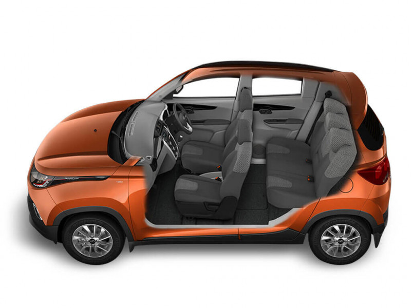 mahindra kuv100 photos interior exterior car images cartrade. Black Bedroom Furniture Sets. Home Design Ideas